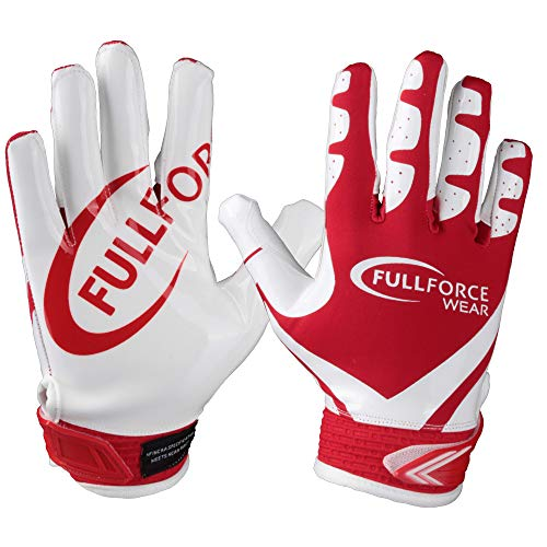 Full Force Victory American Football Receiver Handschuhe - rot/weiß Gr. L