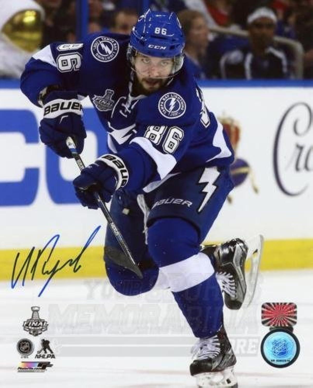 Nikita Kucherov Tampa Bay Lightning Signed Autographed Cup Finals Action 8x10