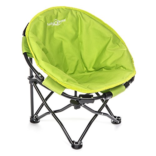 Lucky Bums Moon Camp Kids Indoor Outdoor Comfort Lightweight Durable Chair with Carrying Case, Blue, Medium