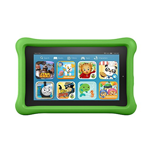 Fire Kids Edition Tablet, 7' Display, 16 GB, Green Kid-Proof Case (Previous Generation - 5th)