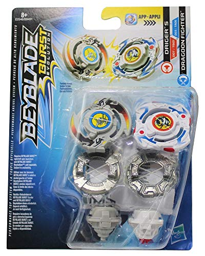 Beyblade Hasbro Burst Let it Rip! Kreisel 2er Set Dual Pack, für Kinder, Jungen und Mädchen (Driger S & Dragoon Fighter)