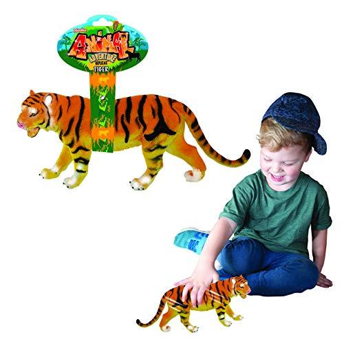 Tiger Toy Animal Adventure Replica Figure por Deluxebase. Estas Figuras Animales del Tigre de Gran tamaño Son los Juguetes Animales de la Selva Ideal para los niños.