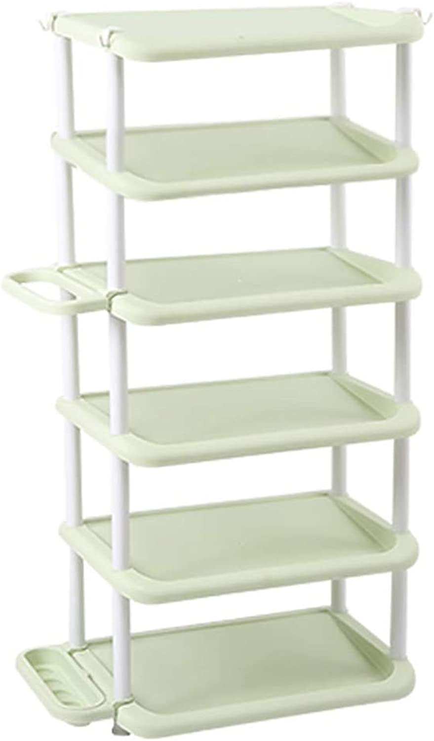 4 5 6-layer shoes Rack Shelf Umbrella Stand Storage Shelf shoes Cabinet Multifunction Household Doorway Entrance Space Saving (color   C, Size   47.5  31.5  104CM)