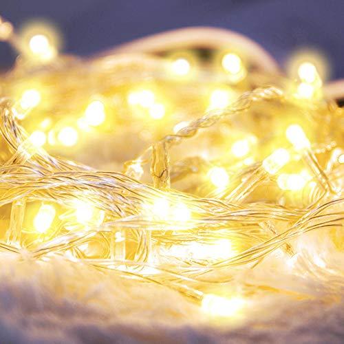 weihnachten dekoration 100 led deko lichterkette batterie weihnachtsbaum 10m weihnachtsdeko weihnachtsbeleuchtung weihnachtsschmuck licht weihnachtsdekoration 50 Holzklammern & 20 Nicht-Spuren-Nagel