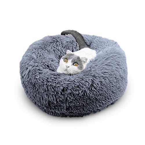 JR Knight Katzenbett Hundebett Haustierbett Katzenkissen Katzensofa Weiche Plüsch Waszchbar für Katzen und Hunde Welpen-Kissen