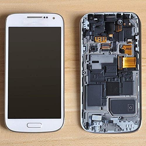 Accessory Kits - Pantalla LCD para Samsung Galaxy S4 Mini I9190 I9192 I9195 LCD táctil digitalizador marco de montaje (color negro con marco)