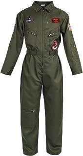Adulto Donna Top Gun Aviatore Tutina Costume 80 S Pilota Da Donna Costume S-M