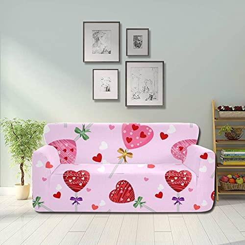 ALALAL Colorido Snack en Forma de corazón Lollipop Funda Protectora para sofá Funda de Asiento Funda para sofá Protector de Muebles Equipado 2