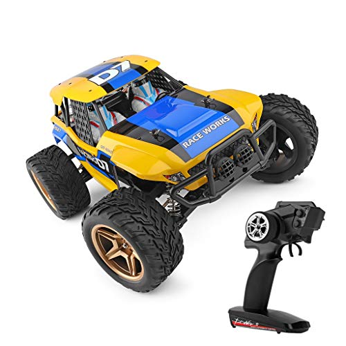 Great Deal! Barcley RC Car, 1:12 Scale 4WD Off-Road Remote Control Car 550 High-Power Drive Motor, 2...