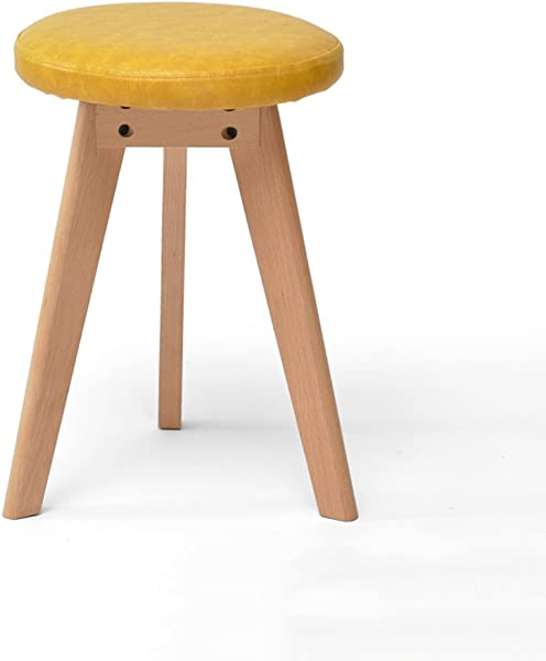 HCJSFD JCRNJSB Sofa Stool Solid Wood Stool Dressing Stool Make Up Stool Cloth Northern Europe Stool Stool Adult Household Bench Removable Round Short Leg Sofa Stool Wooden Benc Color 6