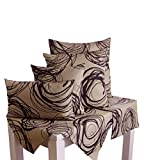 beties Mystik Mitteldecke ca. 80×80 cm in interessanter Größenauswahl hochwertig & angenehm 100% Baumwolle Farbe Toffee-Schwarz - 3