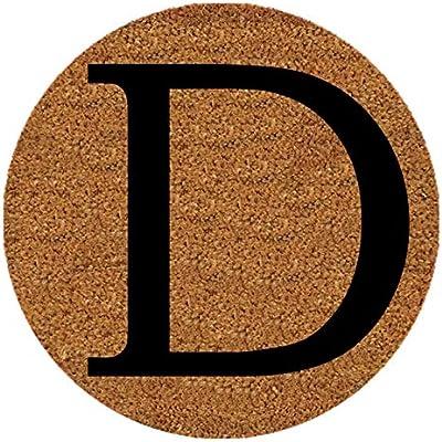 Letter D, 9 Inch Round Insert for 2' X 3' Doormat , Fits Calloway Mills 160012436 Door Mat