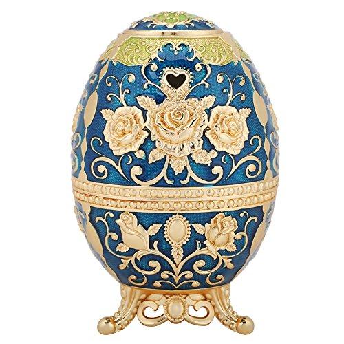 GLOGLOW Soporte de palillo de Dientes automático, Estilo del Huevo del Empuje Forma palillo de Dientes Modelo de Flor Prensa de Mano palillo de Dientes Dispensador(#2)