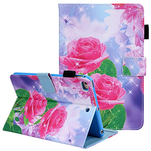 Case for iPad Mini 5th Gen 7.9 Inch Tablet, iPad Mini 4 3 2 1 Cover Shell, Coopts Premium PU Leather Stand Folio Smart Case with Pencil Holder for iPad Mini 5th 4th 3rd 2nd 1st Gen Tablet, Rose