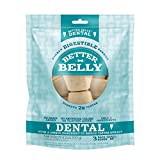 Better Belly Dental Small Bones Highly Digestible Rawhide, Reduces Tartar Buildup, Small | 3-Count (DN-20027)