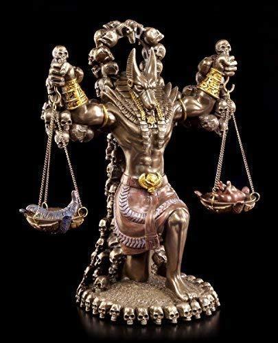 Anubis Figur mit Waage & Herz und Feder - Totengott Ägypten