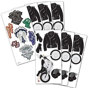 Motorcycle Scrapbook Sticker Bundle Motorcycle Party Craft Bundle Set - 7 Pack Motorcycle Craft Stickers with Harley Davidson Stickers Harley Davidson Craft Supplies  Motorcycle Party Decorations