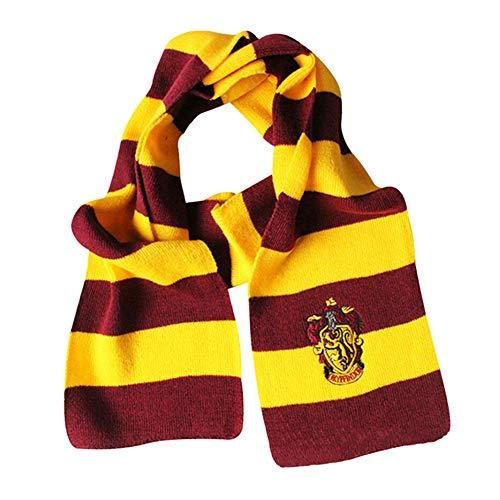 YMCHE Bufanda de Harry Potter, Bufanda de Estilo colegial de Harry Potter Gryffindor para niños Navidad Cumpleaños Cosplay