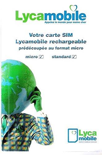 SIM-Karte Lycamobile wiederaufladbar – Frankreich