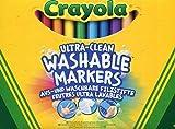 Crayola - 12 Feutres à colorier ultra lavables - boîte française - se nettoie sans frotter - 256350.012