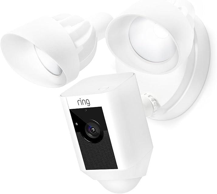 Ring Floodlight Cam | Cámara de seguridad HD con focos integrados comunicación bidireccional y alarma sonora