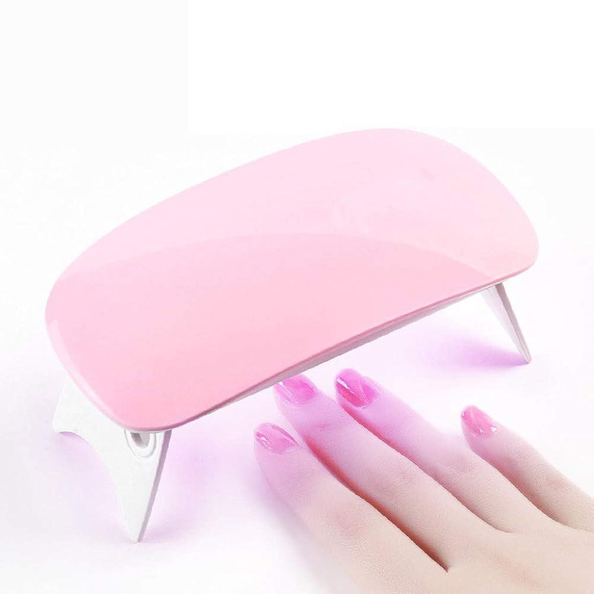 繕うアッパーバリアLEDネイルドライヤー UVライト 折りたたみ式手足とも使える LED 硬化ライト UV と LEDダブルライト ジェルネイル用 (ピンク)