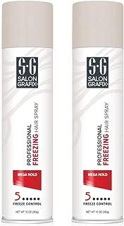 Salon Grafix Hairspray Freezing Mega Hold 10 Ounce (295ml) (2 Pack)