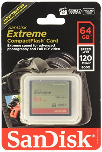 Sandisk Extreme CompactFlash Memory Card  64 GB SDCFXS064GA46