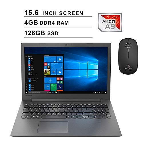 2020 Lenovo IdeaPad 130 15.6 Inch Laptop  AMD A9-9425 up to 3.70 GHz  4GB DDR4 RAM  128GB SSD  WiFi  Bluetooth  DVD  Windows 10 Home S + NexiGo Wireless Mouse Bundle