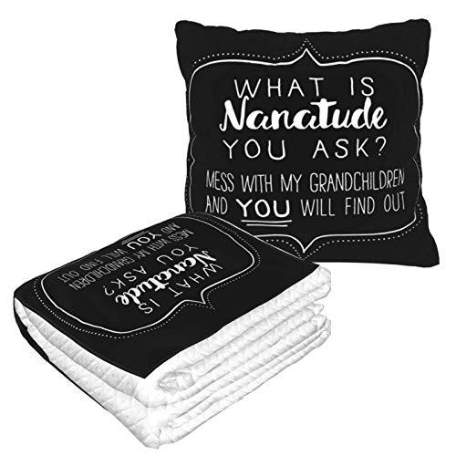 Was ist Nanatude Reisedecke und Kissen 2-in-1, Flugzeugdecke, Reise-Nackenkissen und Decke