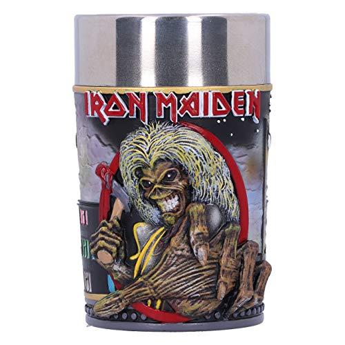Nemesis Now Offizielles Lizenzprodukt von Iron Maiden The Killers Eddie Album Schnapsglas, Schwarz, 8.5cm