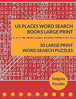 US Places Word Search Books Large Print: One Puzzle Per Page