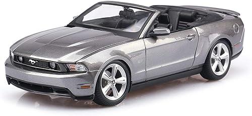 YYHSND Modellauto 2010 Ford Mustang GT Sportwagen 1 18 Simulation Simulation Druckgusslegierung statisches Spielzeugauto-Modell Auto Model
