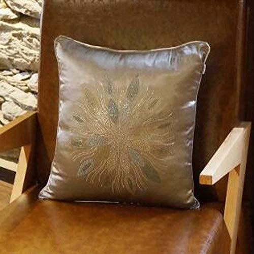 NOBRAND Cojín de terciopelo negro para sofá, Material: tela de terciopelo., B, 45 x 45cm