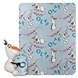 Disney Frozen 2, 'Olaf Knows' Character Shaped Pillow and Fleece Throw Blanket Set, 40' x 50', Multi Color, 1 Count