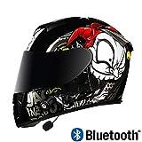SJAPEX Bluetooth Klapphelm Fullface Helm Motorradhelm Integralhelm mit Doppelvisier Anti-Fog