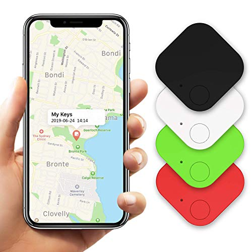 4 Pcs Key Finder, Kimfly Item Finders Phone Finders Wallet Finder, Bluetooth Smart Trackers Purse Luggage Tracker Anti Lost Reminder Works With Android & iOS
