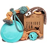 Keen.Pet.Play Dog Toys Set - Gift Pack of 6 - Interactive Boredom Relief Toy Bundle for Canine Enrichment, Puppy Teething and Dog Birthday Present for Small and Medium Dogs