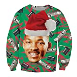 KSJK Unisex Funny Print Ugly Christmas Halloween Sweatshirts Jumper Hoodie