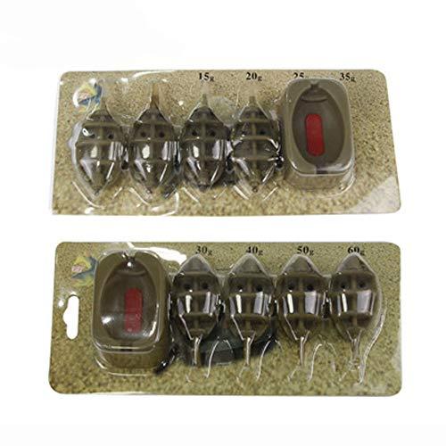 ysister Angeln Inline Feeder Set Karpfenangeln Zubehör Aus Kunststoff, Method Feeder Set Inline System zum Karpfenangeln 15g, 20g, 25g, 30g, 35g, 40g, 50g, 60g