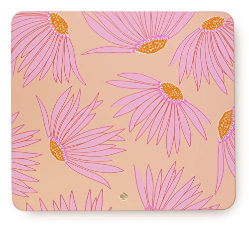 Kate Spade New York Pink Floral Leatherette Mouse Pad, 9' x 8' with Non-Slip Back, Falling Flower