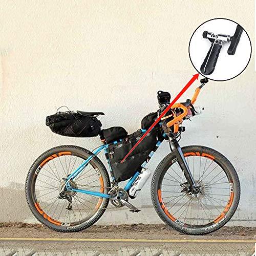 HO2NLE Kettennieter Fahrrad Kettenwerkzeug Bike Chain Tool mit Ketten Haken Universal für 7/8/9/10 Speed Kettenglied Reparatur Entfernung Edelstahl Schwarz - 6
