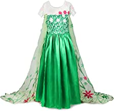 KuaileBaby Anna Elsa Frozen Fever Girl's Birthday Dress Costume