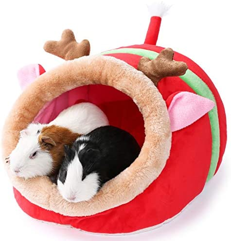 JanYoo Small Pet Gerbil Hedgehog Guinea Pig Bed Accessories Cage Toys Bearded Dragon House Hamster product image