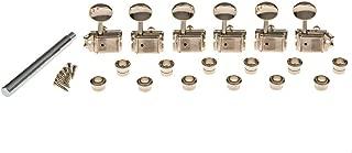 Gotoh Locking Vintage Oval Knob Tuners Nickel (6-In-A-Line)
