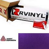 Avery Dennison SW900 566-M Satin Purple Metallic Supreme Wrapping Film Vinyl Vehicle Car Wrap Sheet Roll - (12' x 60' w/Application Card)