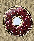 TOYLAND Toalla de Playa Redonda de 150cm de Microfibra y Donut de Chocolate