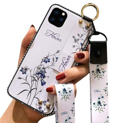 Aulzaju Case for Note 20 Ultra,Samsung Galaxy Note 20 Ultra Case with Lanyard Note 20 Ultra Cute Flower Case for Girl Women Note 20 Ultra Wrist Hand Strap Cover with Ring for Keychain Airpods-White