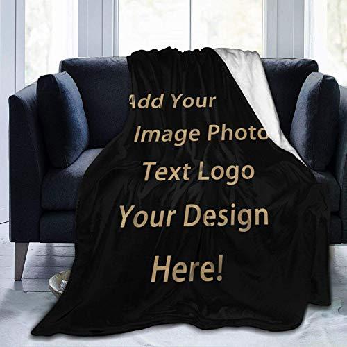 Mantas de forro polar de franela antibolitas personalizadas, fotos collage, diseño personalizado, mantas con texto de foto para amigos de familia regalo personalizado 1-50×40