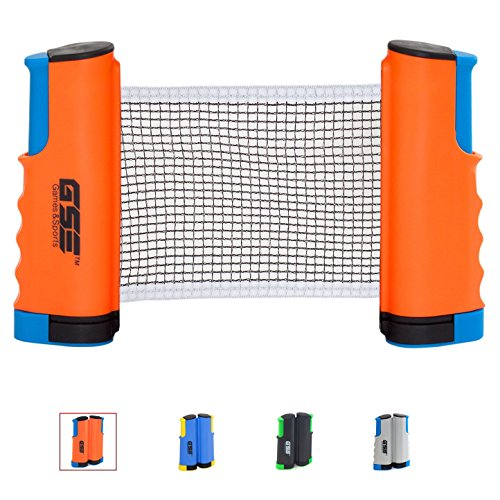 Review Of GSE Games & Sports Expert Anywhere Retractable Table Tennis Net and Post. Adjustable Repla...